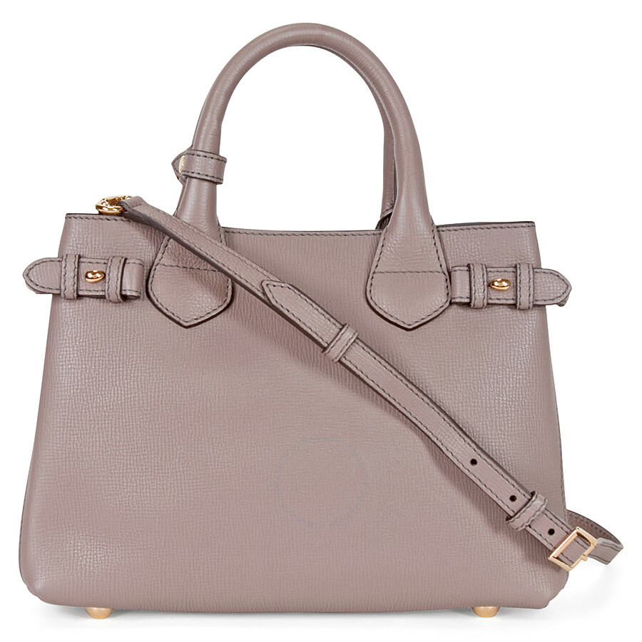 976dd82caece Burberry Small Banner House Check Derby Tote -Thistle Grey ...