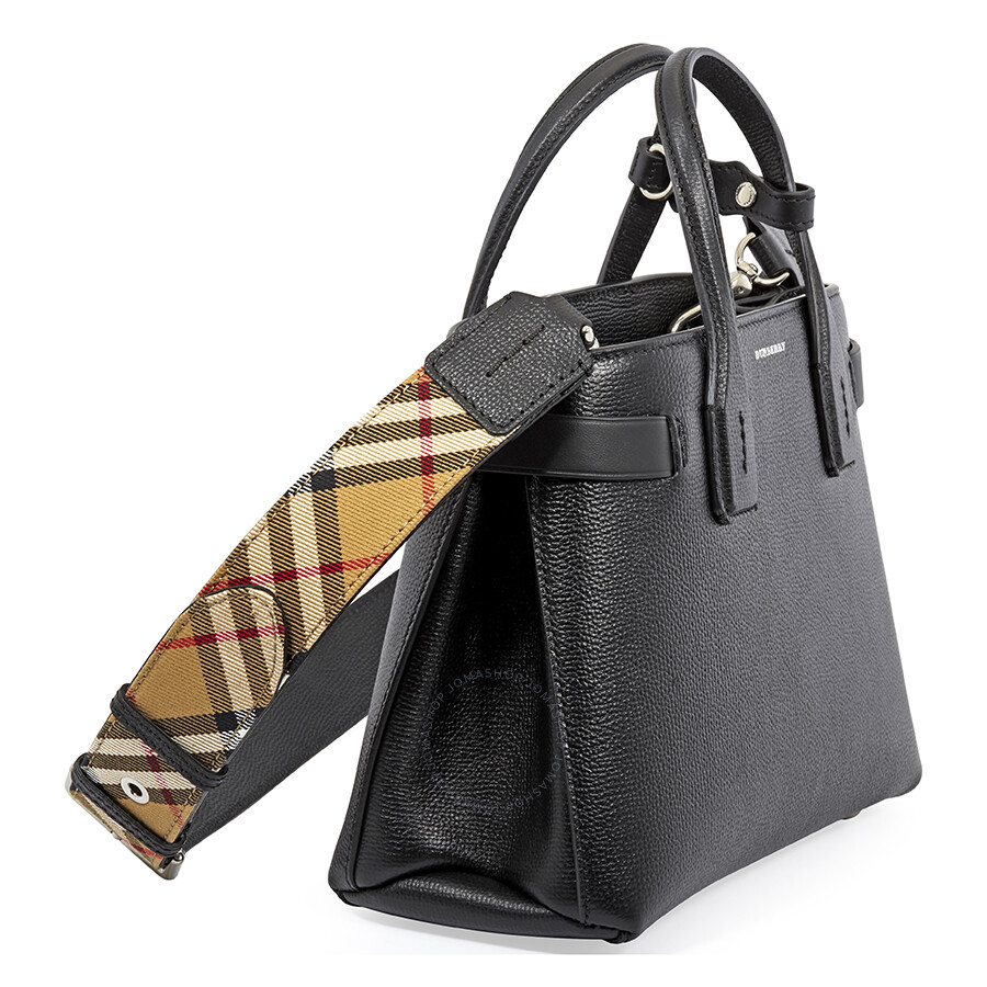 9dc7c1002b5 Burberry Small Banner Leather Tote- Black - Burberry Handbags ...