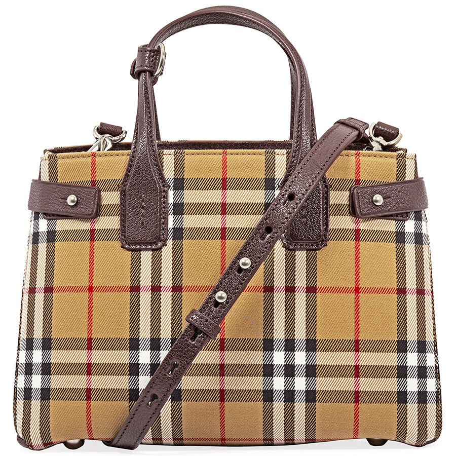 9d90921c30ce Burberry Small Banner Leather Tote- Deep Claret - Burberry Handbags ...