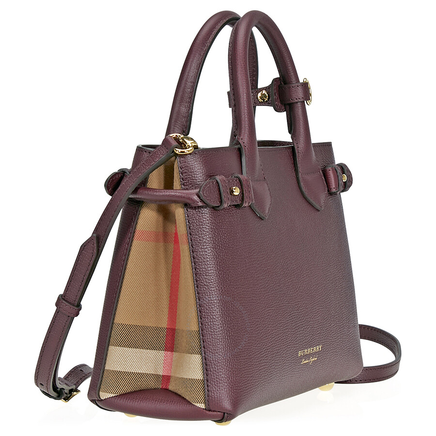 cc92ba7daa75 Burberry Small Banner Tote- Mahogany Red - Burberry Handbags ...