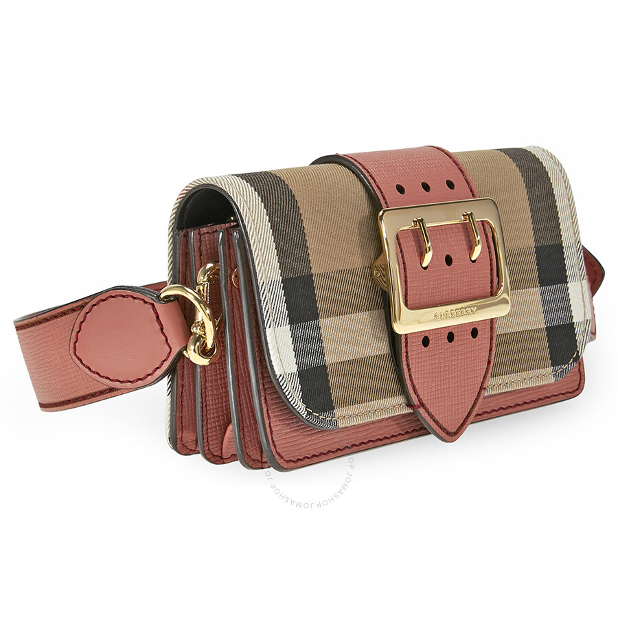 Burberry Small Buckle Bag in House Check and Leather - Cinnamon Red ... 1169b874ee1e0