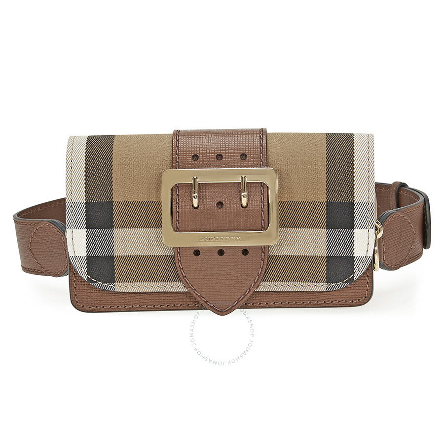 Burberry Small Buckle Bag in House Check and Leather - Tan Item No. 4022458 6b36abd14fd2b