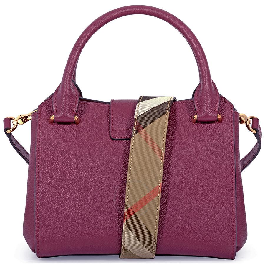 aacb0de79af2 Burberry Small Buckle Tote - Dark Plum - Burberry Handbags ...