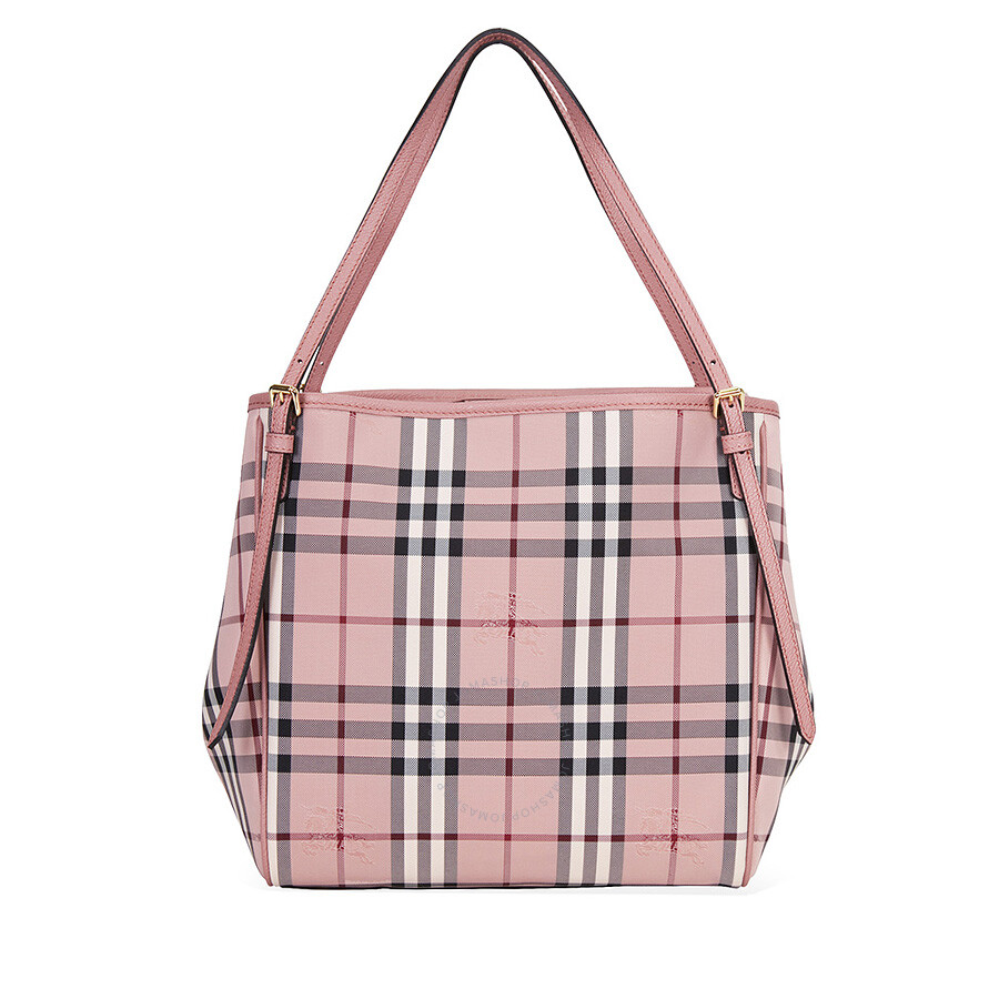d9a2a0dcef31 Burberry Small Canter Horseferry Check Tote - Ash Rose   Dusty Pink Item  No. 4033954