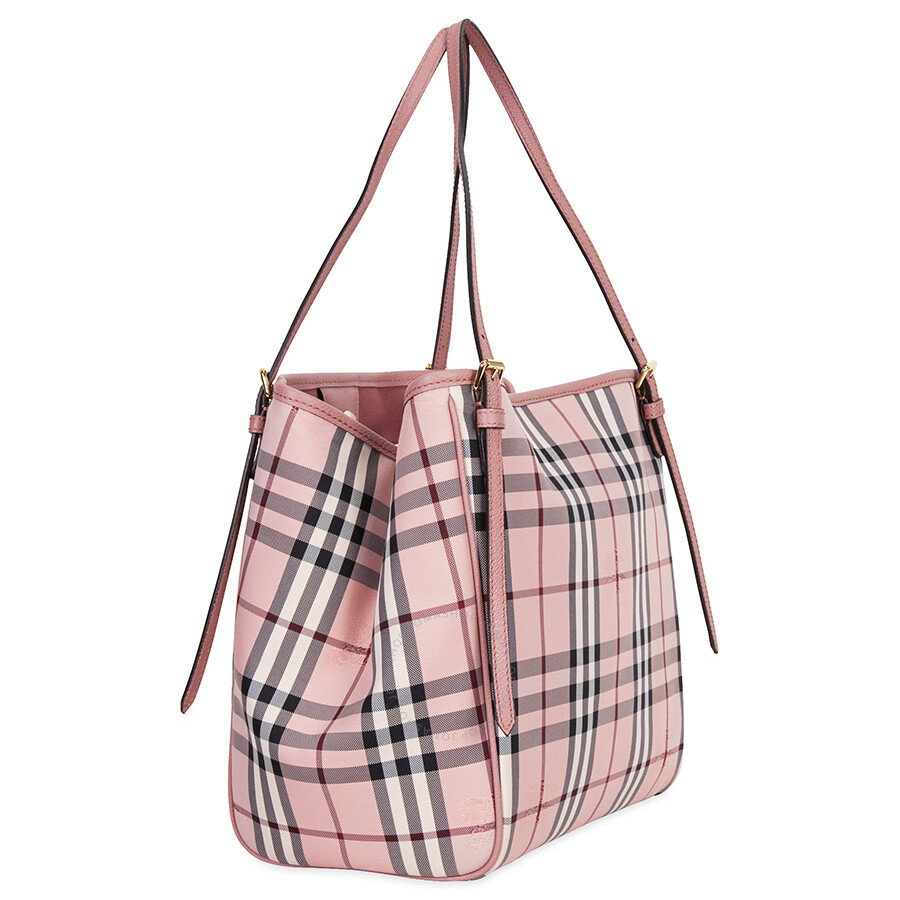 0a495d7b0ead Burberry Small Canter Horseferry Check Tote - Ash Rose   Dusty Pink ...