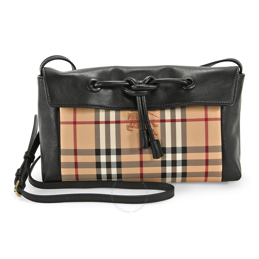 fd31ab97f11d Burberry Small Hayamarket Check Clutch Bag - Black Item No. 39249901