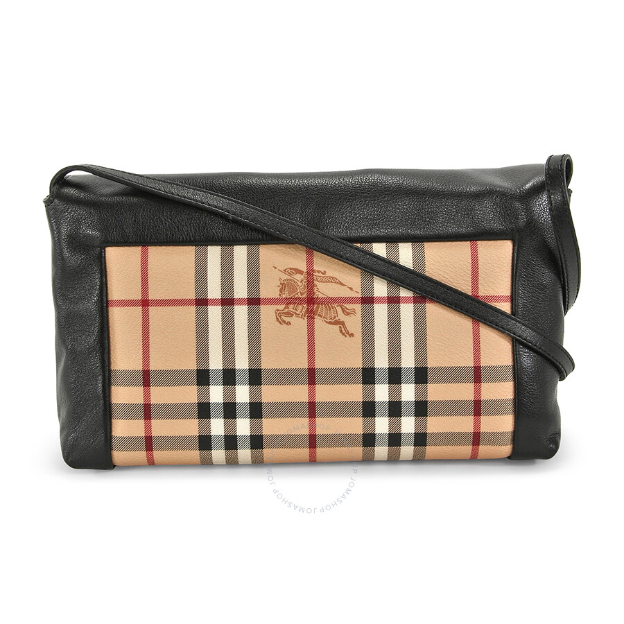a896592441c6 Burberry Small Hayamarket Check Clutch Bag - Black - Burberry ...