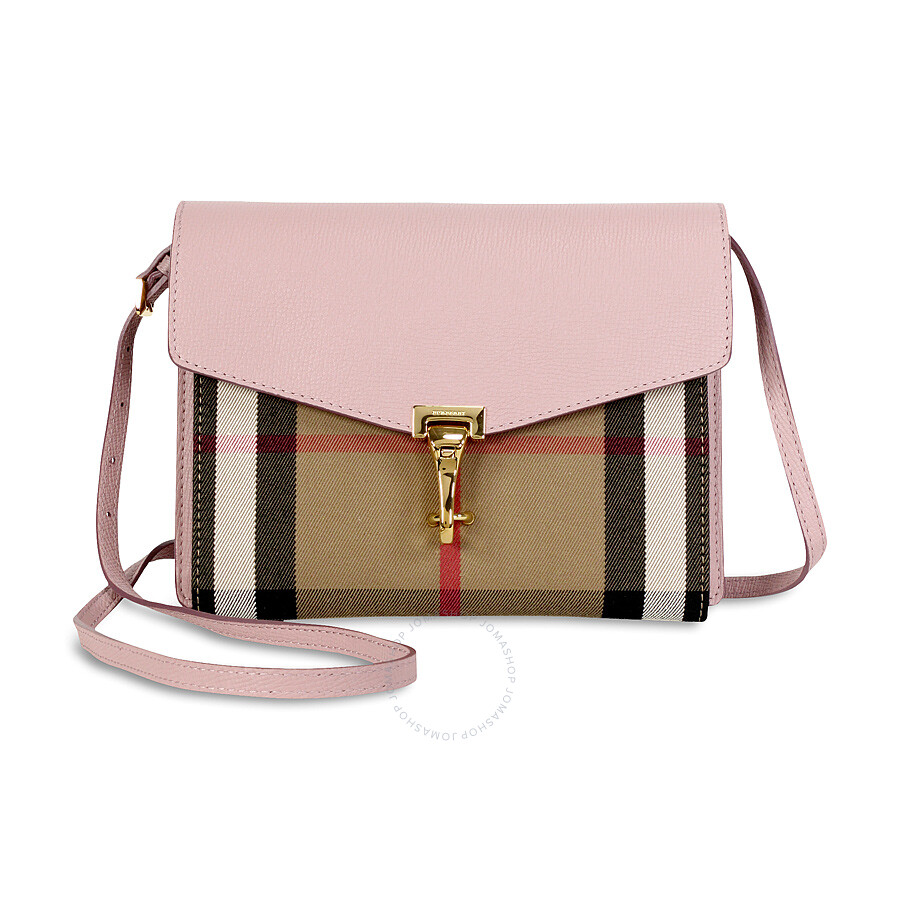 4ba3fb8976f Burberry Small Leather House Check Crossbody Bag - Pale Orchid Item No.  3997187