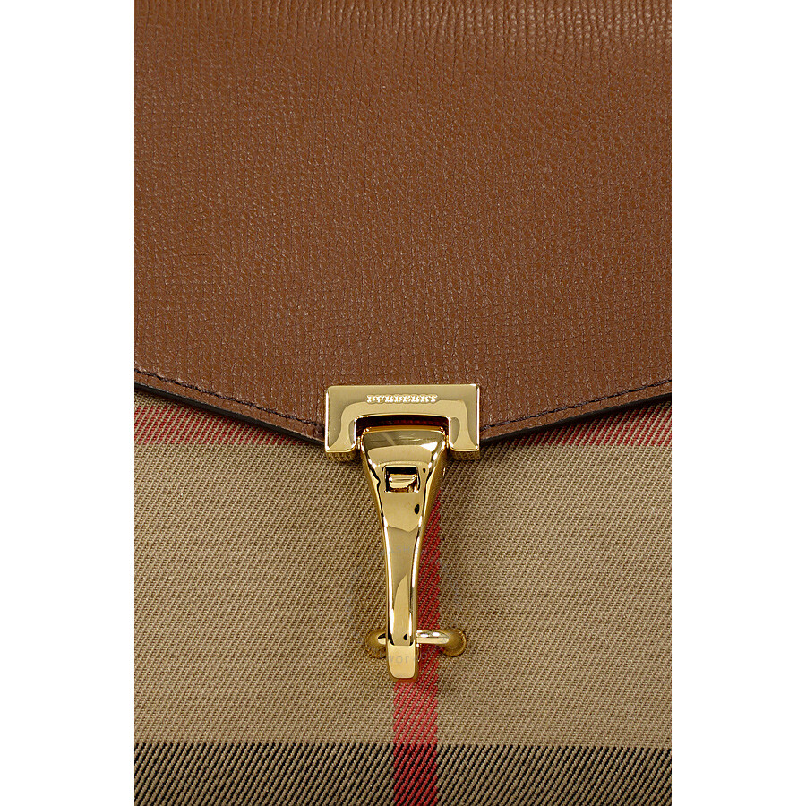 0d066c0efb05 Burberry Small Leather House Check Crossbody Bag - Tan - Burberry ...