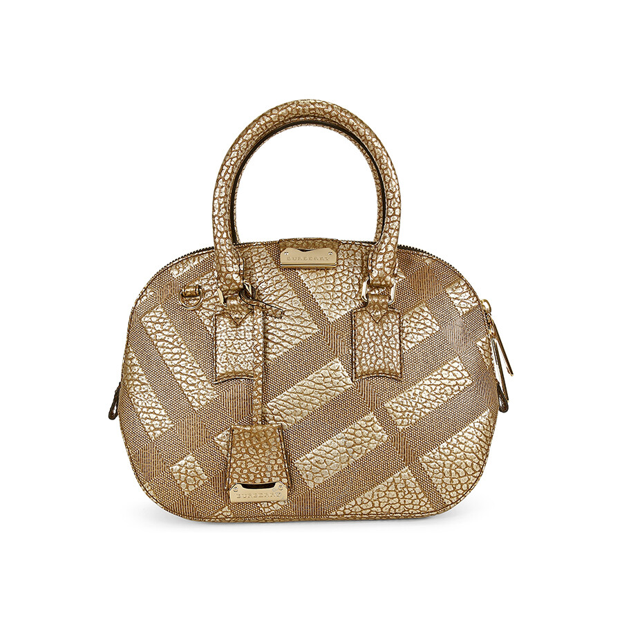 4c2e91966c16 Burberry Small Orchad Check-Embossed Beige Pebbled Leather Satchel 3958877