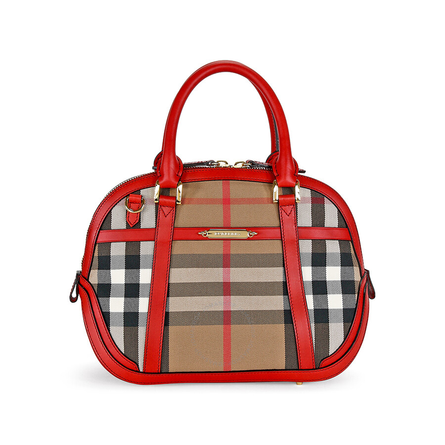 Burberry Small Orchard House Check Satchel - Burberry Handbags ... 9754931da42ee