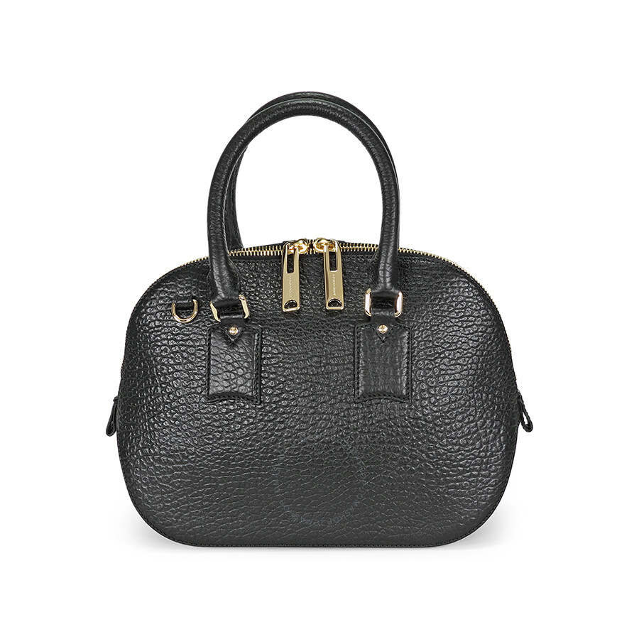 ae36badfc44 Burberry Small Orchard Leather Bowling Bag - Black Item No. 39015901