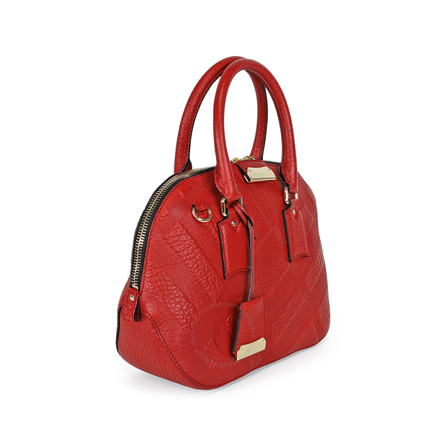 e1fdd5279ff1 Burberry Small Orchard Leather Bowling Bag - Military Red - Burberry ...