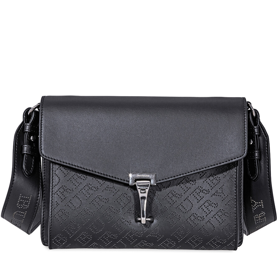Burberry Small Perforated Leather Crossbody Bag- Black Item No. 4078492 a918396f88f37