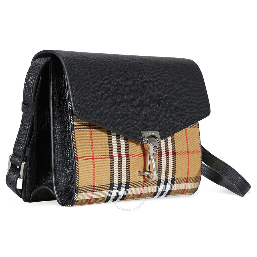 aa7c9bbacbab Burberry Small Vintage and Check Crossbody Bag- Black - Burberry ...