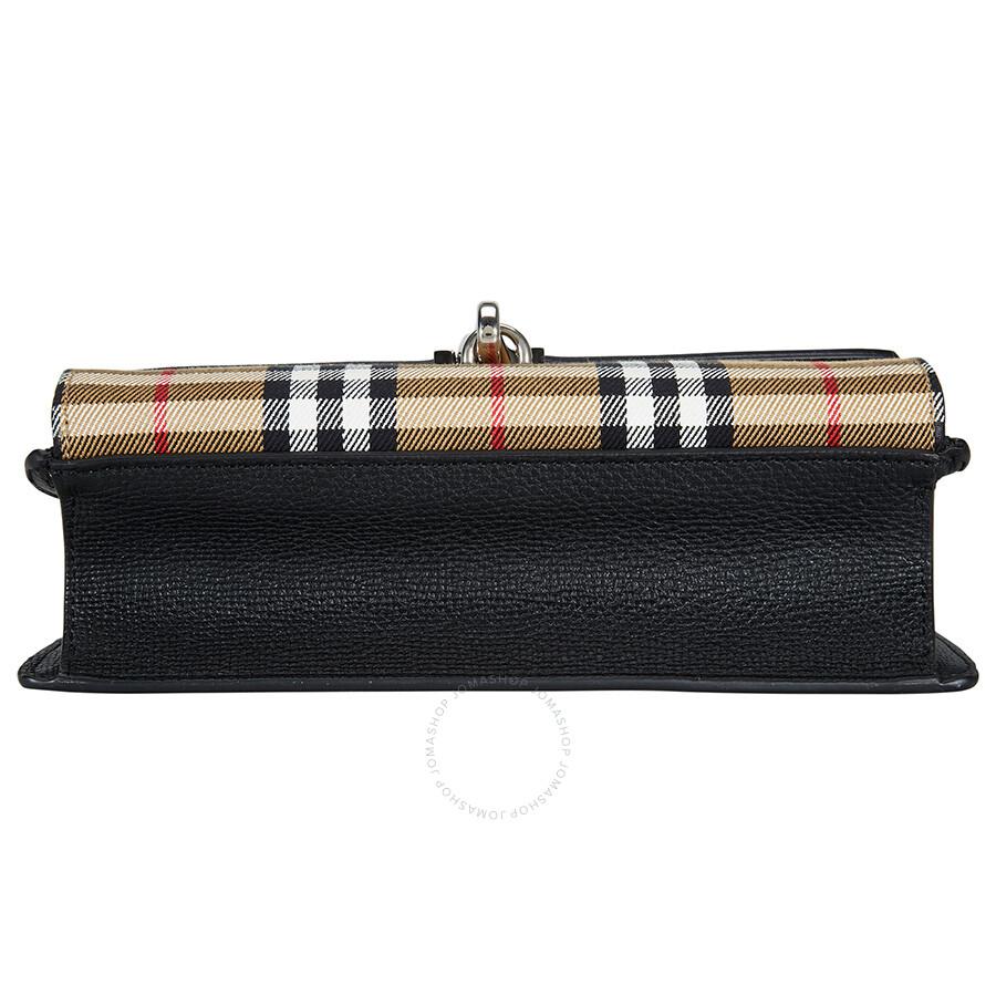 178e6d33d8e Burberry Small Vintage and Check Crossbody Bag- Black