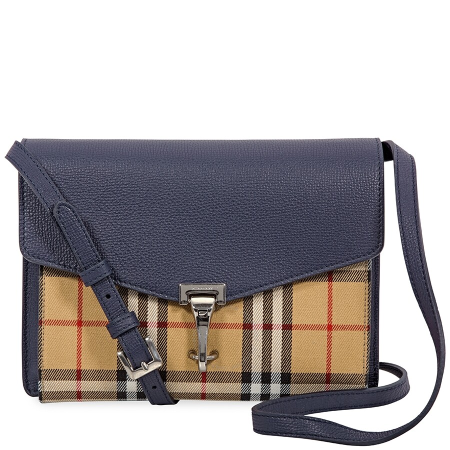 f1e496603c66 Burberry Small Vintage and Check Crossbody Bag- Regency Blue Item No.  4080078