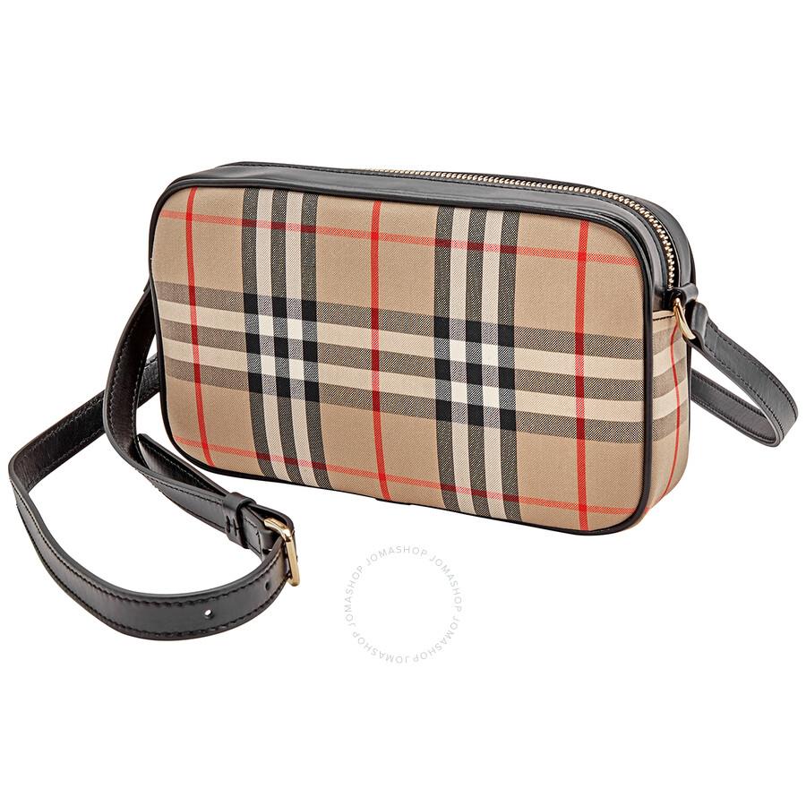 Burberry Small Vintage Check And Leather Camera Bag Burberry Handbags Jomashop