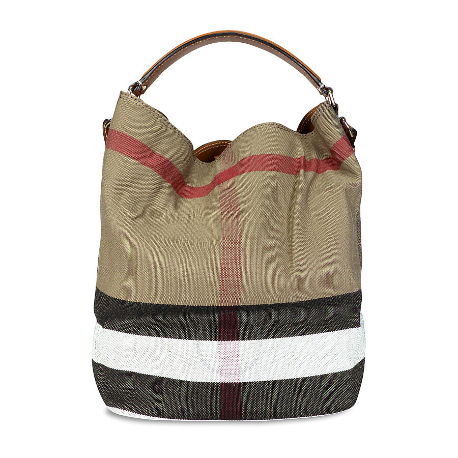 924063dc8668 Burberry The Ashby Medium Canvas Check Tote - Saddle Brown ...
