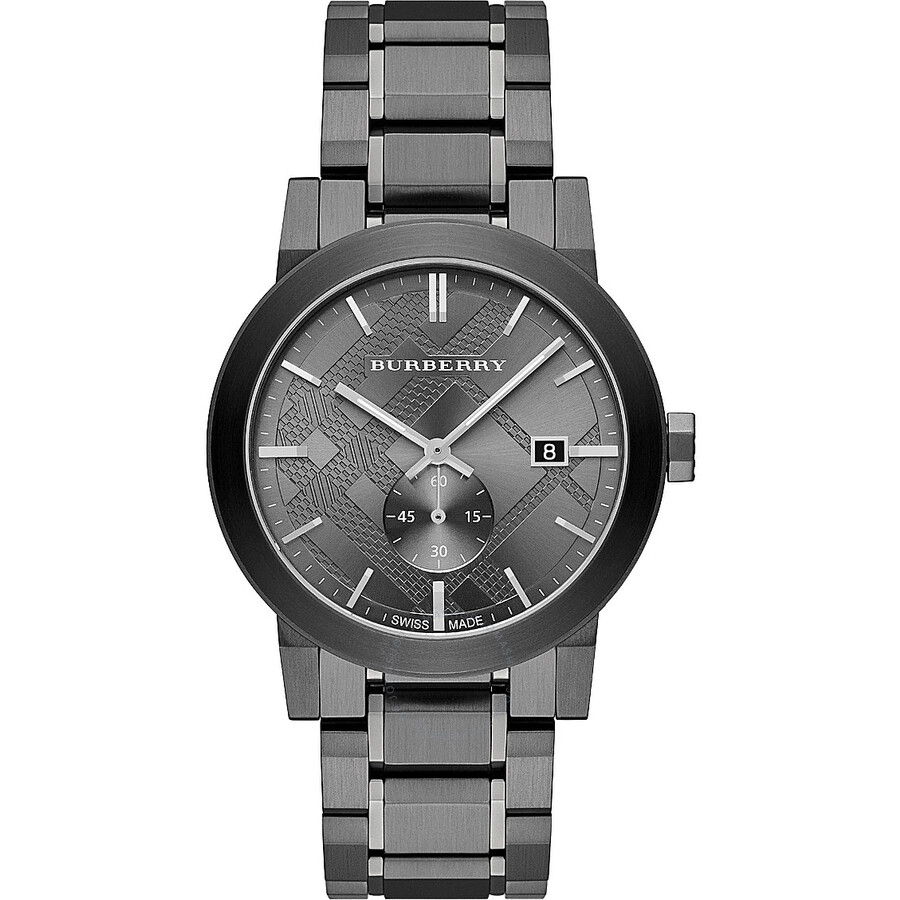 Burberry the city gunmetal dial steel men 39 s watch bu9902 burberry watches jomashop for Burberry watches