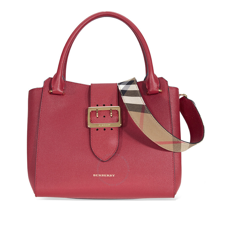 572463037d Burberry The Medium Buckle Tote - Parade Red - Burberry Handbags ...