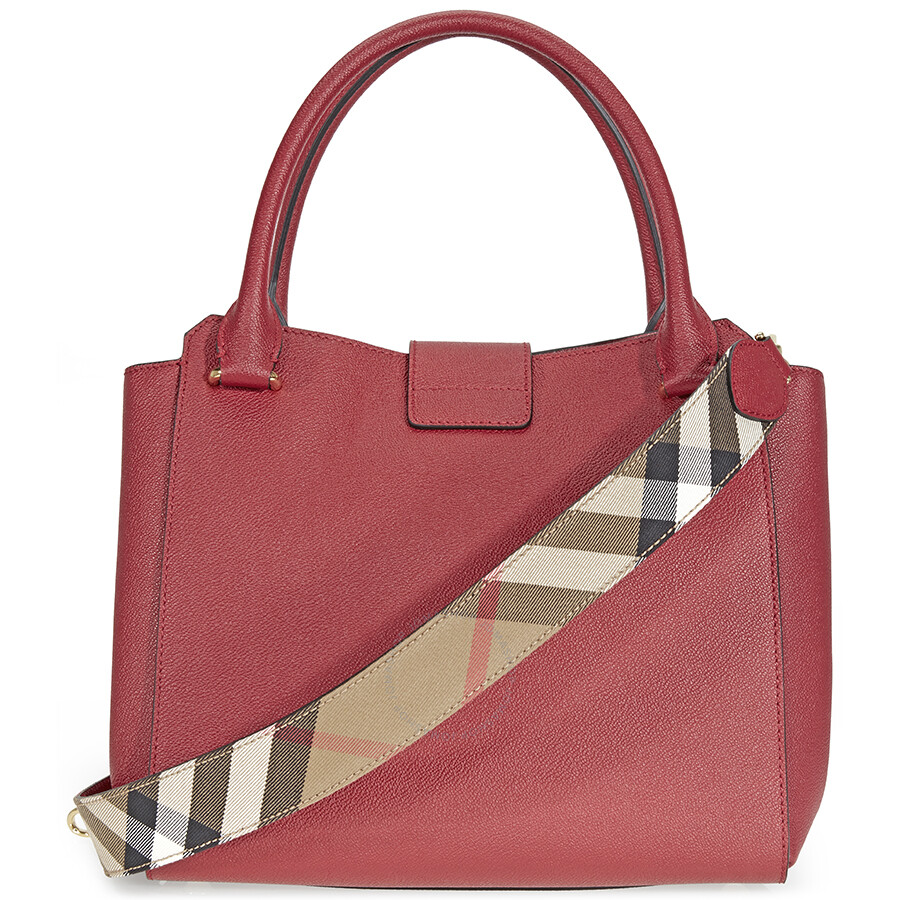 528300f56eb0 Burberry The Medium Buckle Tote - Parade Red - Burberry Handbags ...