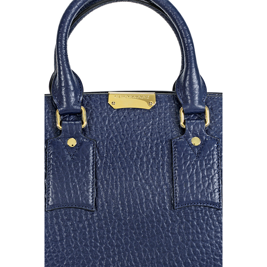 8b66080c5585 Burberry The Medium Clifton Blue Carbon Leather Tote - Burberry ...