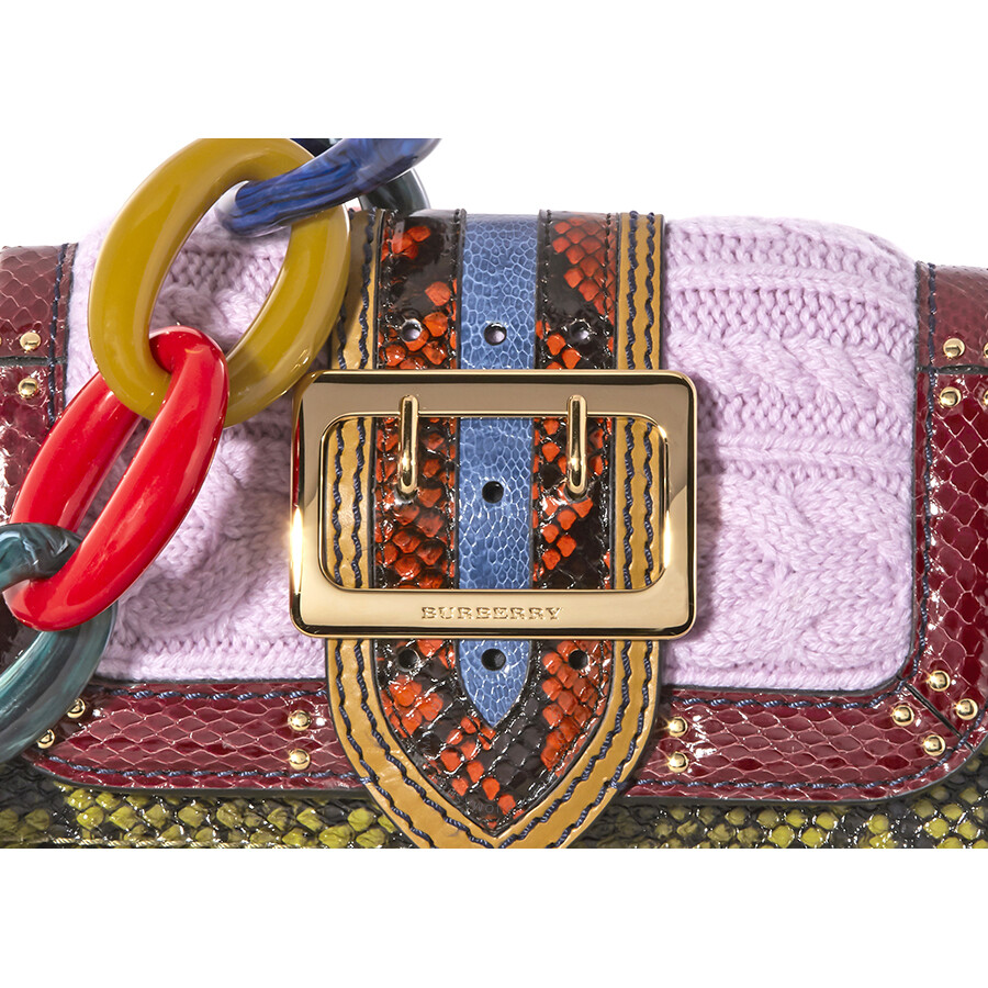 4cb9957626ed Burberry The Patchwork in Exotics Crossbody Bag - Copper Green ...
