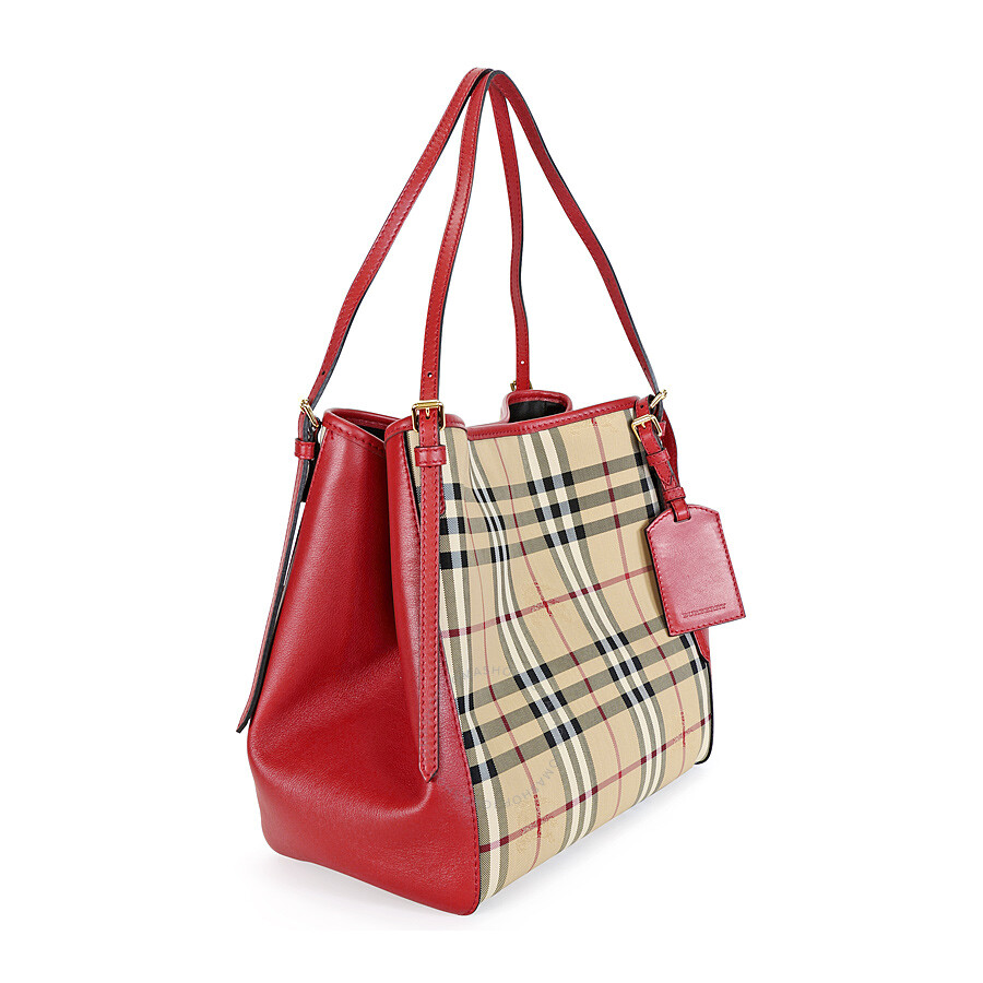 Burberry Tote Bag Red