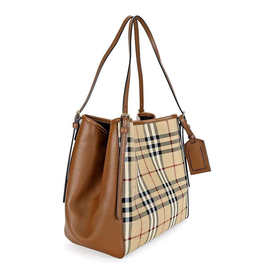 Tote bag burberry - Burberry The Small Canter Horseferry Check Tote Bag Honey Tan
