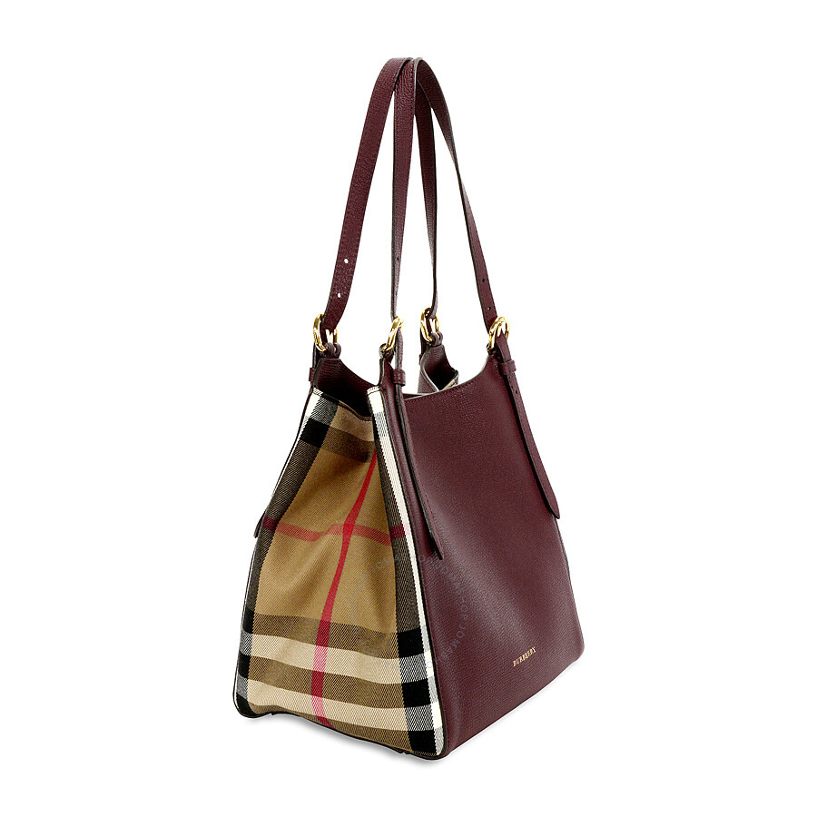 0bb69c619612 Burberry The Small Canter Leather Tote - Mahogany Red - Burberry ...
