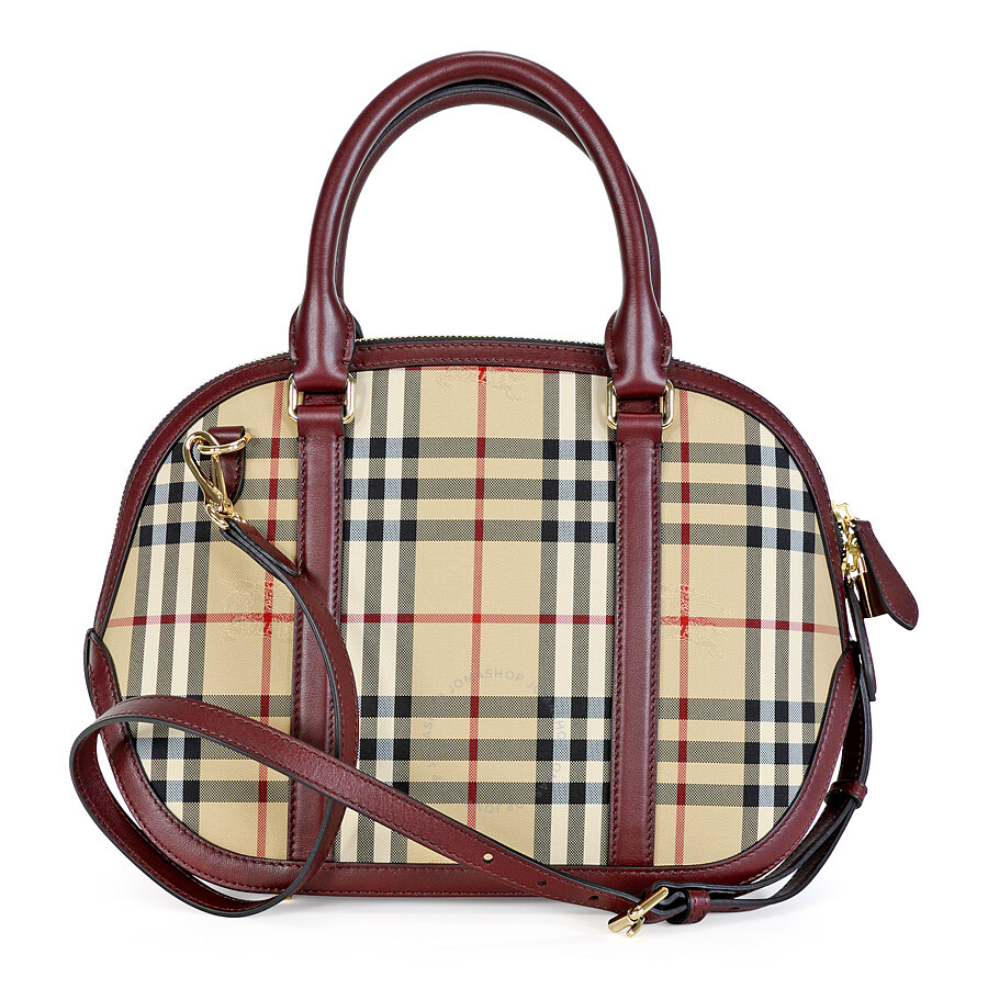 ba6fc66f1198 Burberry The Small Orchard Bowling Bag - Honey Claret - Burberry ...