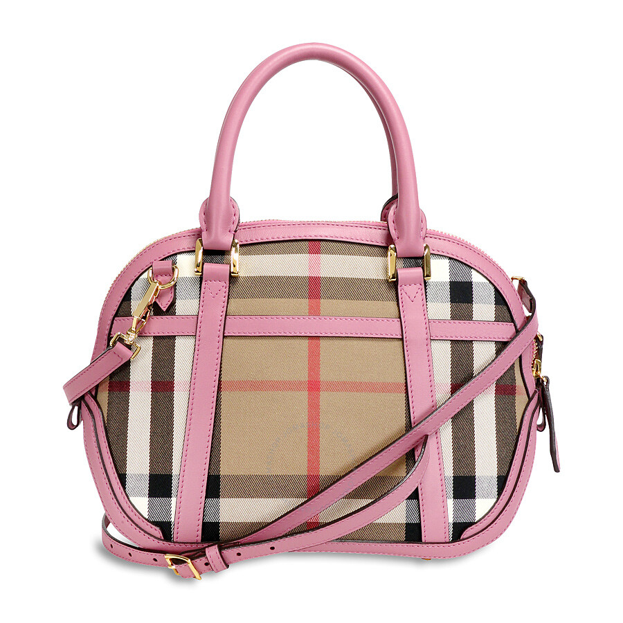 9cd6200b0d46 Burberry The Small Orchard House Check Bowling Bag - Mauve Pink Item No.  39830591
