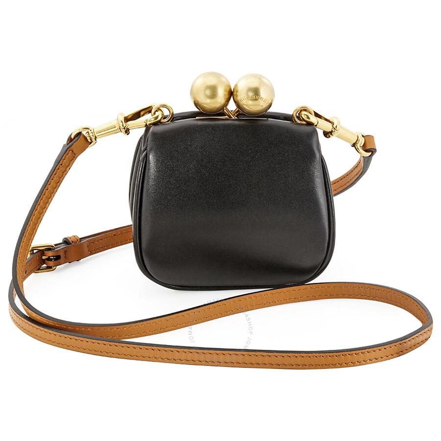 59e27634cb8 Burberry Two Tone Mini Frame Bag Black Brown Handbags