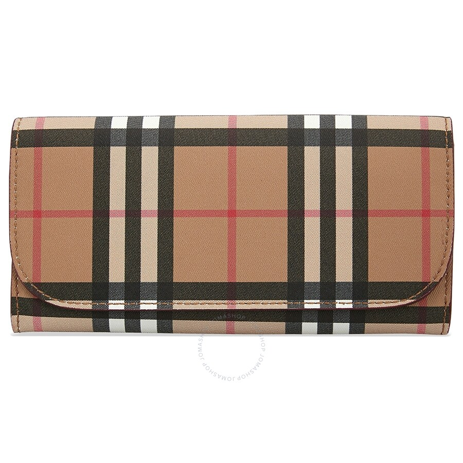 982a8ca68a8 Burberry Vintage Check Continental Wallet- Crimson Item No. 8005384