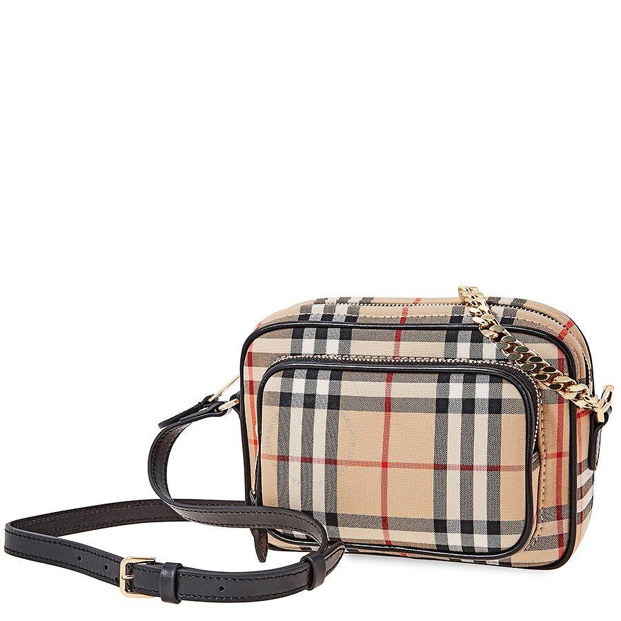 75c603f639bc Burberry Vintage Check Cotton Camera Bag- Archive Beige Item No. 8015946