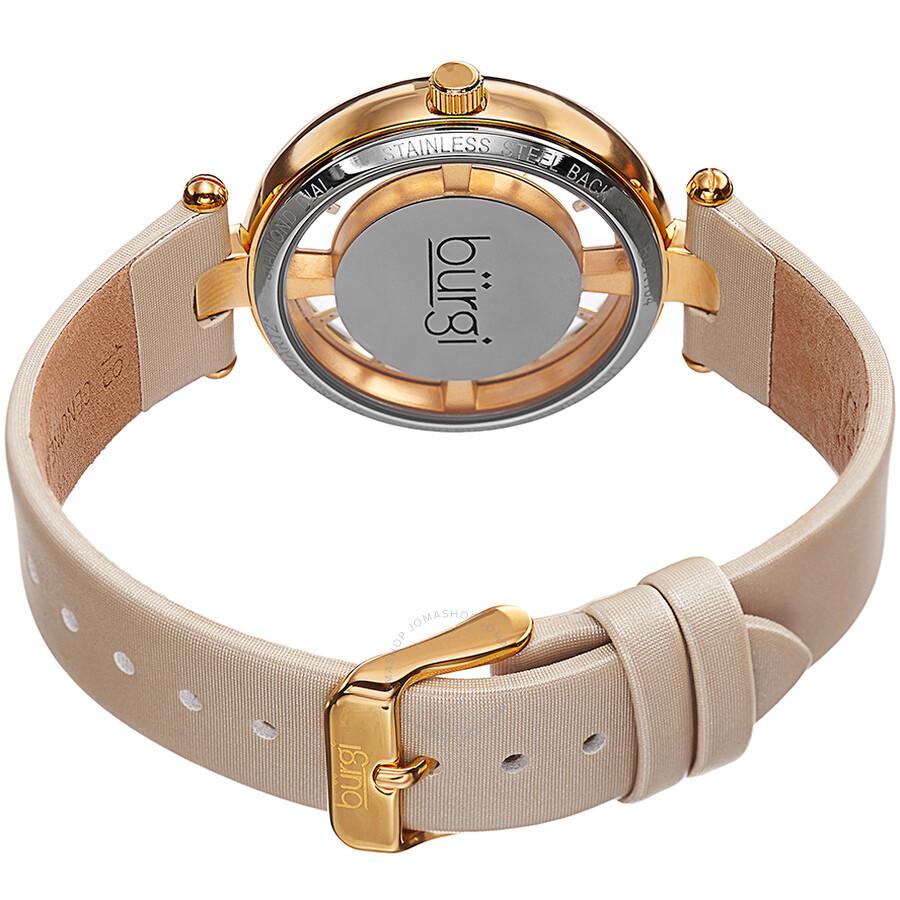 Burgi beige satin strap gold tone diamond dial ladies watch bur104wtg burgi watches jomashop for Gold dial ladies watch