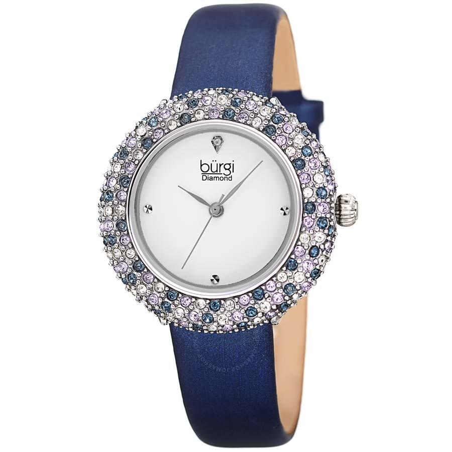 Burgi Diamond Silver Dial Ladies Watch Bur227bu
