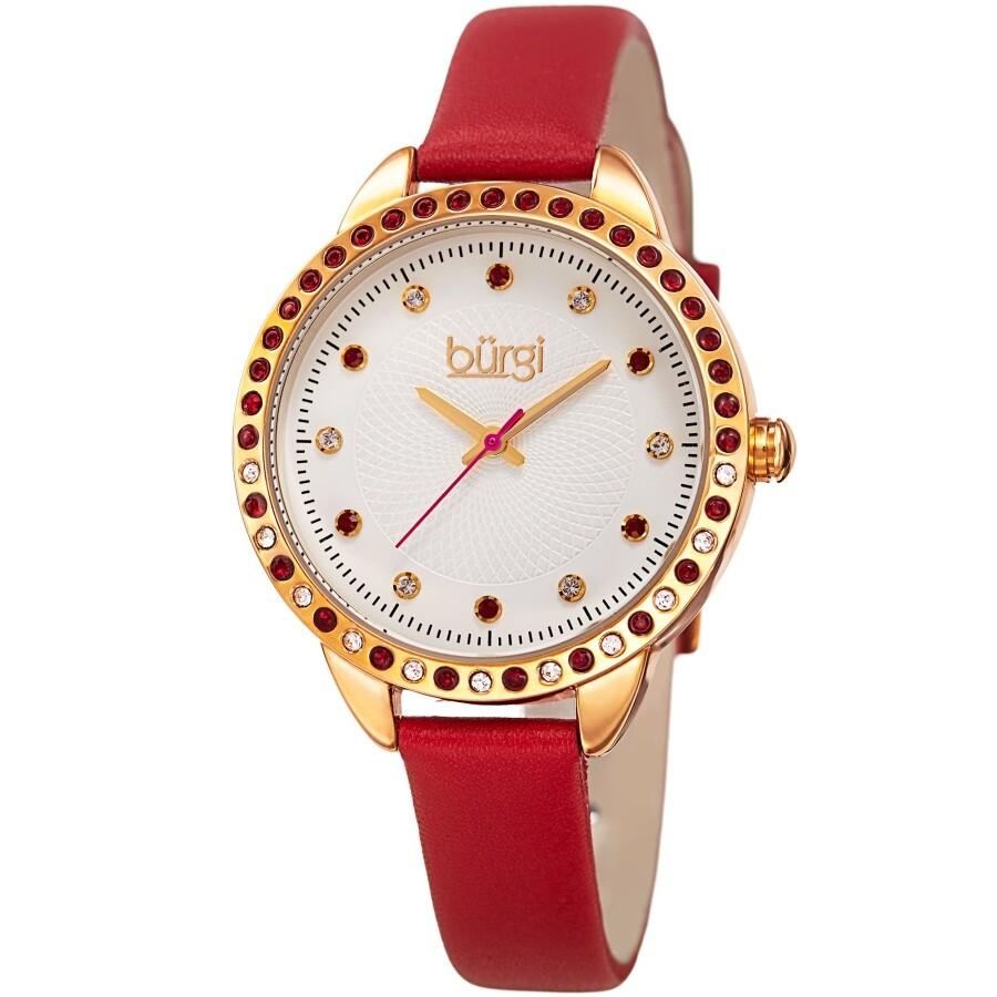 Ladies Silver Bur161rd Quartz Burgi Watch Dial Crystal qzpVSUM