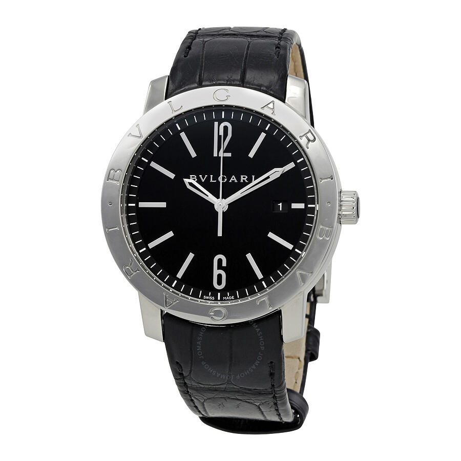 7669839dd07 Bvlgari Black Dial Black Alligator Leather Strap Automatic Men s Watch