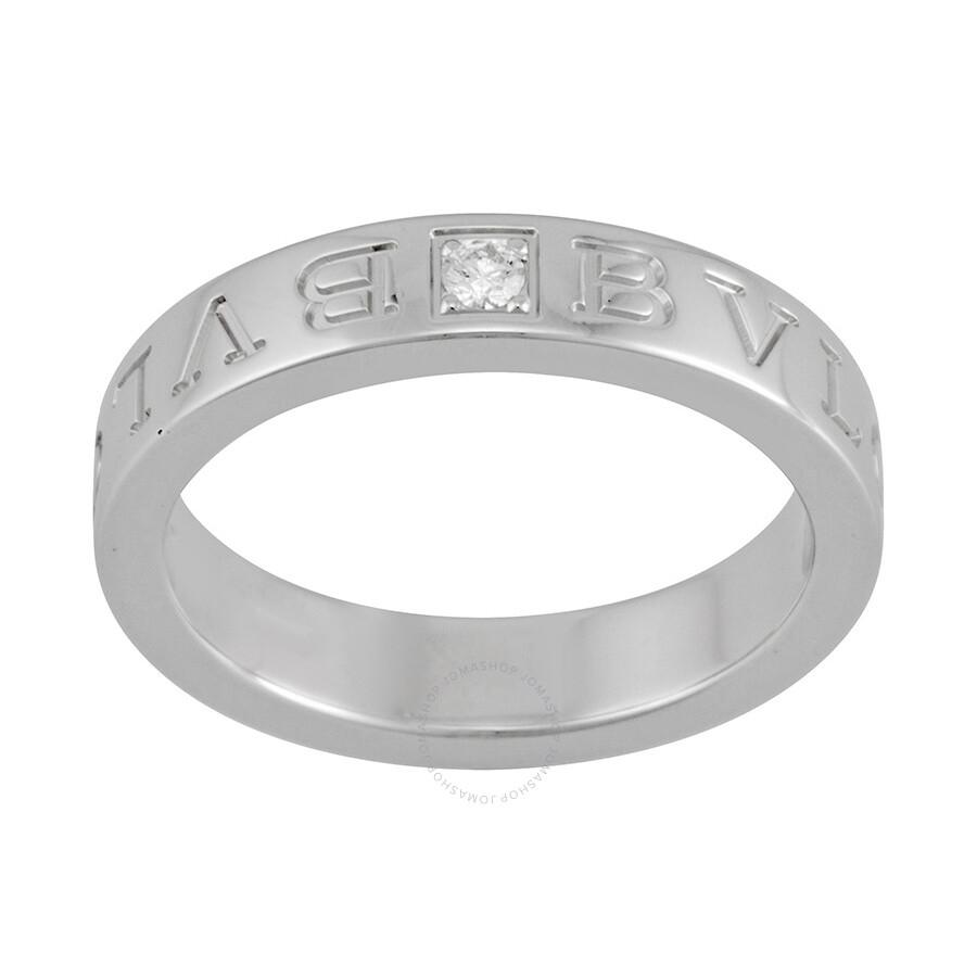 bvlgari 18kt white gold diamondset ring