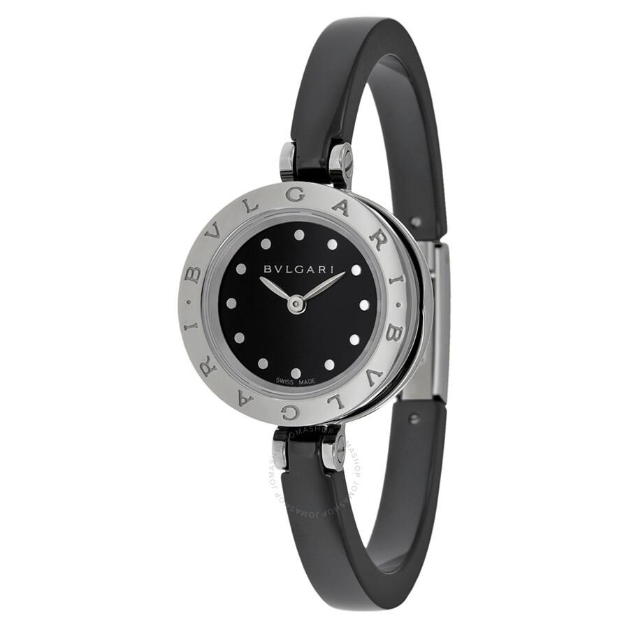 Bvlgari B Zero 1 Black Dial Ceramic Ladies Watch
