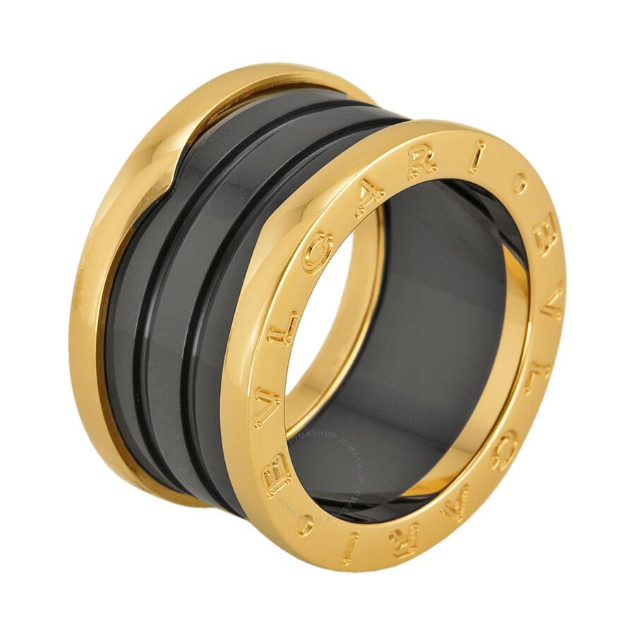 bvlgari b zero 18kt pink gold ring size