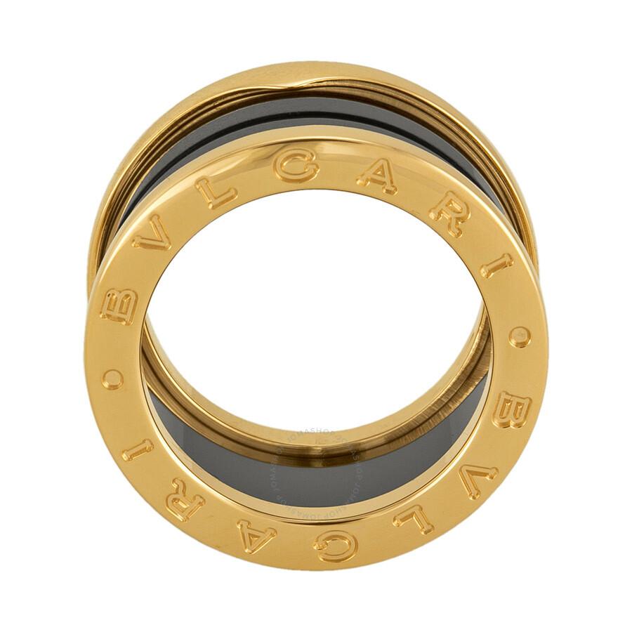bvlgari b zero 18kt pink gold ring size 53