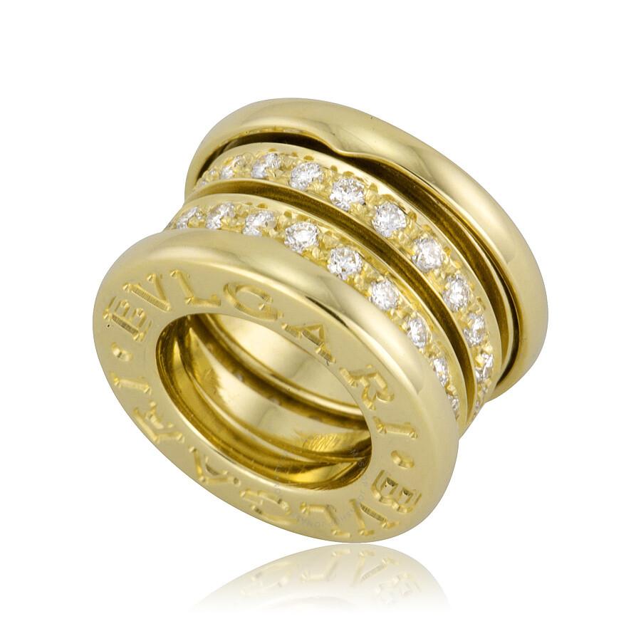 bvlgari bzero 18kt yellow gold diamond pendant