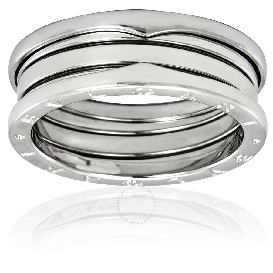 de4f018fac1 Bvlgari B Zero1 18k White Gold 3 Band Ring Size 66 Us 113 4