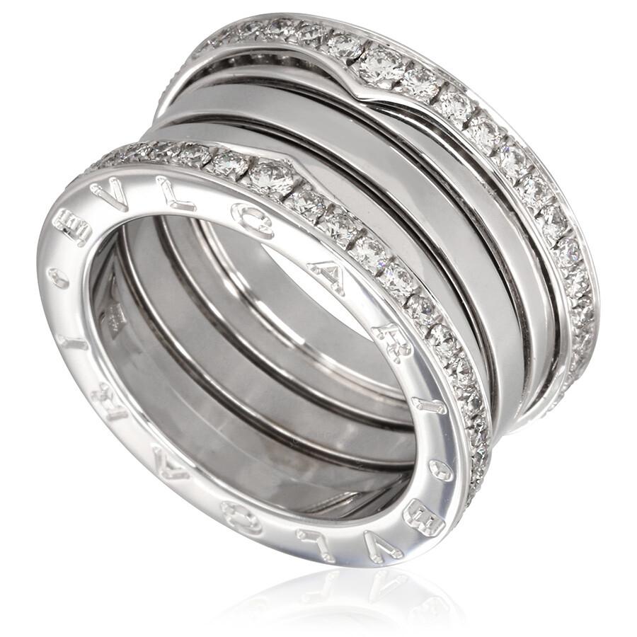 Bvlgari K White Gold Pave Diamond Ring
