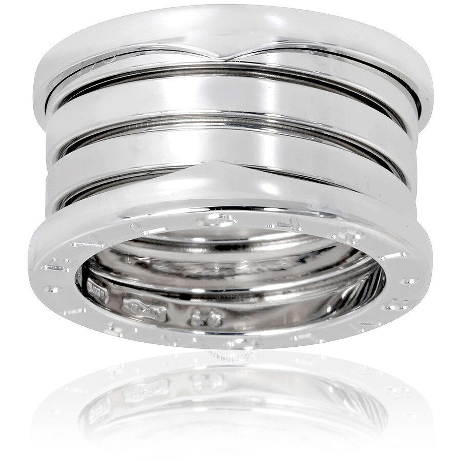 bvlgari bzero1 18k white gold 4band ring size 7
