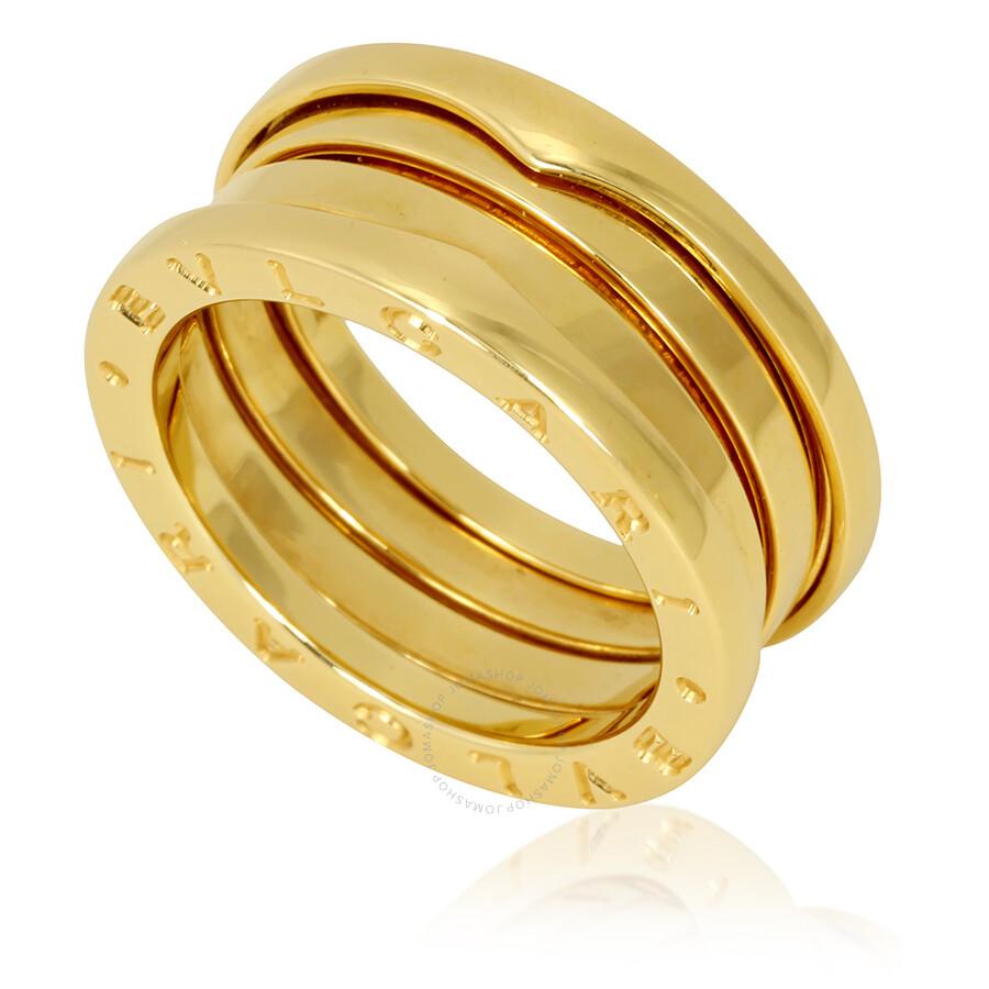 29de0cd25bd Bvlgari B Zero1 18k Yellow Gold 3 Band Ring Size 7