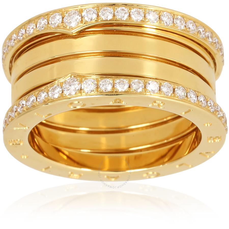 bvlgari bzero1 18k yellow gold 4 band ring size 825
